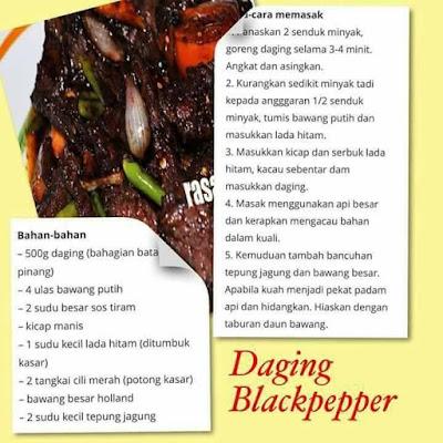 Daging Blackpepper, Resepi Daging Blackpepper, Recipe, Masakan, Menu, Makanan, Menu Berbuka Puasa, Menu Bersahur, Masakan Di Hari Raya,