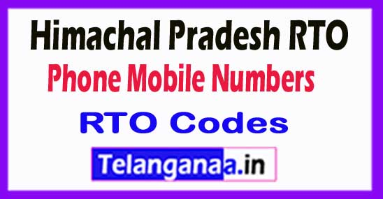 Himachal Pradesh HP RTO Codes Phone Mobile Numbers and Pin Code