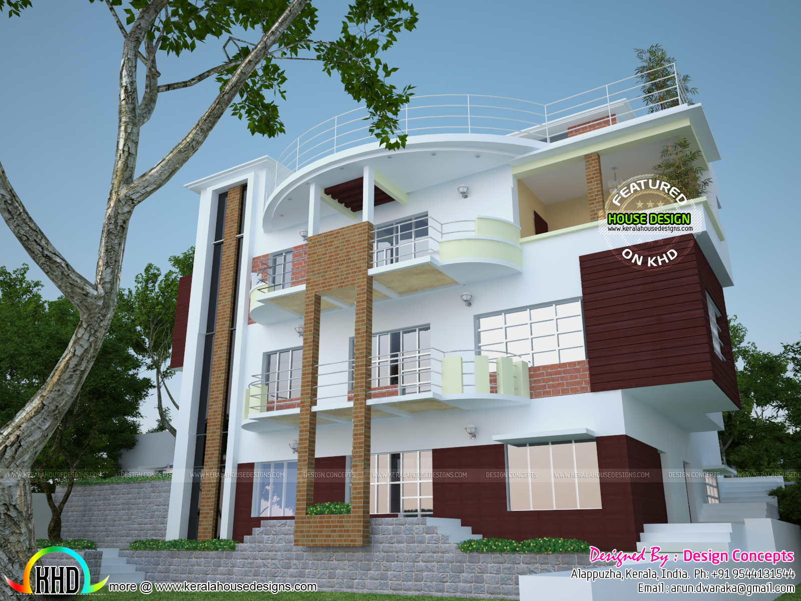multi family 4-plex home plan - kerala home design and floor plans