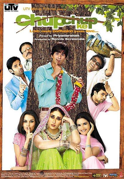 Poster Filem Chup Chup Ke Lakonan Shahid & Kareena Kapoor