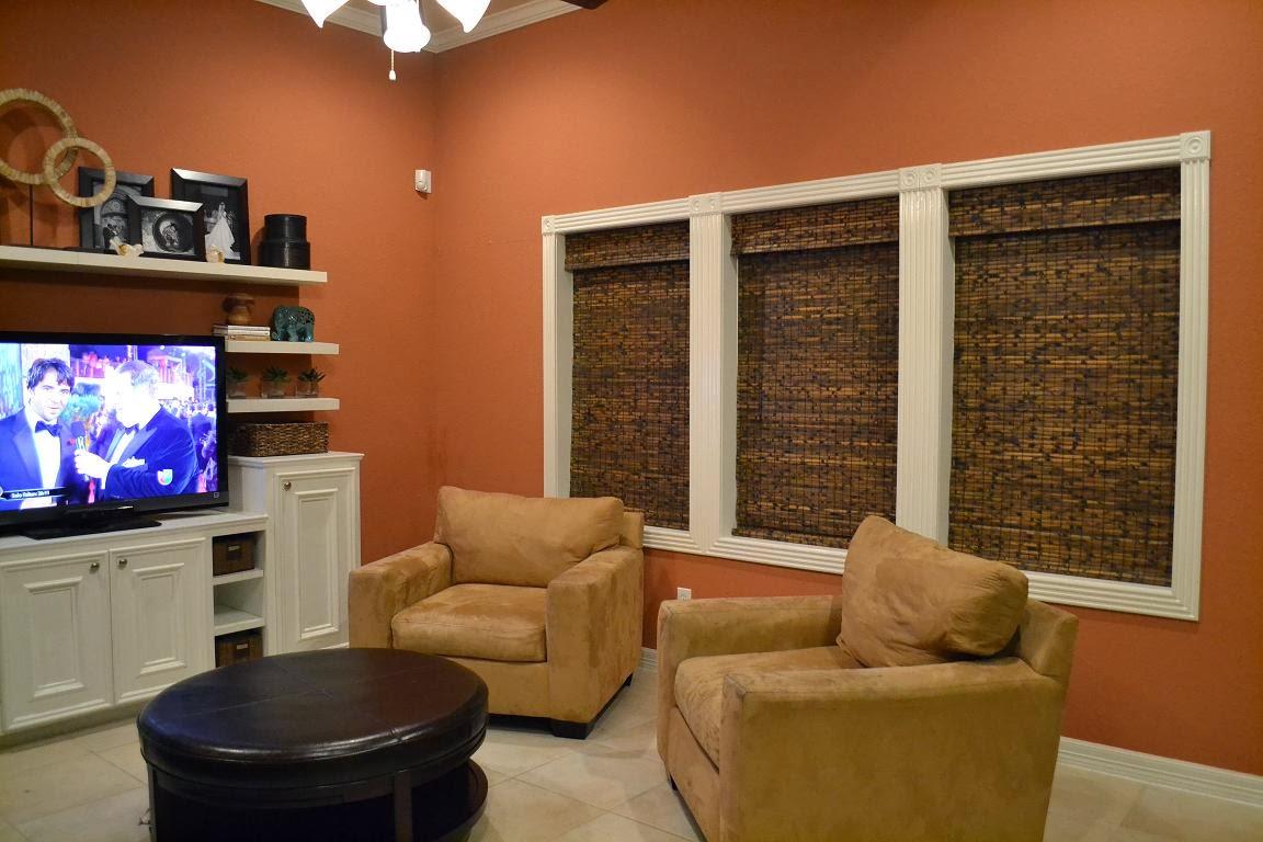 Design showcase burnt orange in the living room schue love - Orange walls living room ...