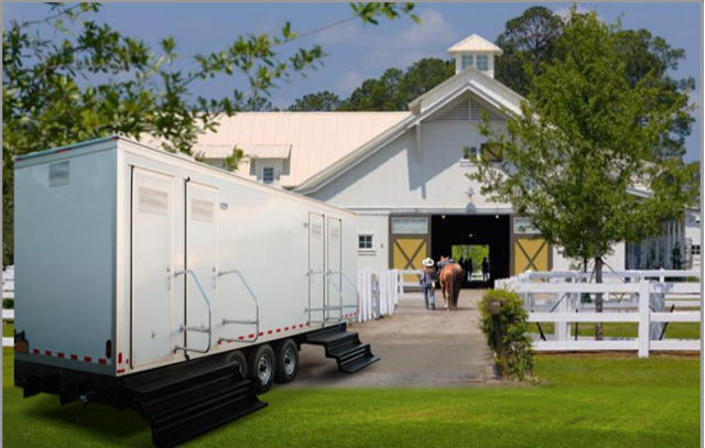 Luxury restroom trailer is perfect for any event.