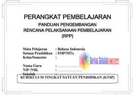 Perangkat Pembelajaran Bahasa Indonesia Smp Mts Kelas 9 Ktsp Berkas Sekolah
