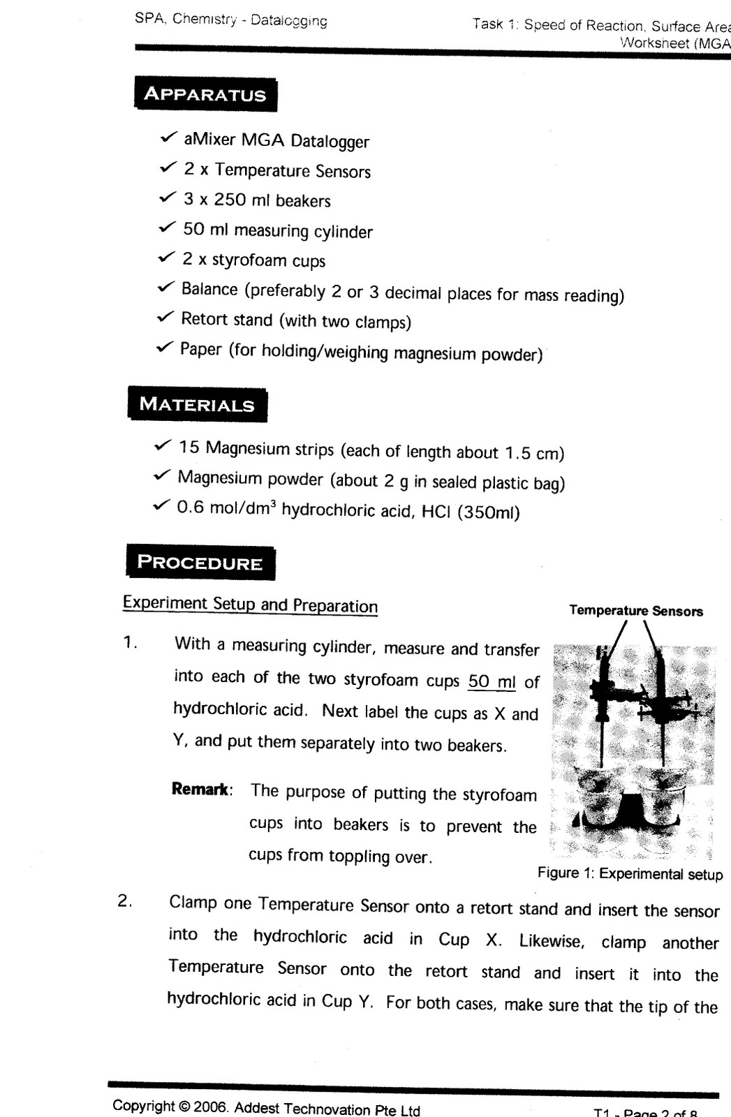 Ict In Education Spa Worksheet Chemistry
