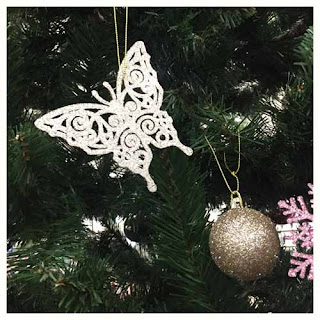 butterfly ornaments christmas tree