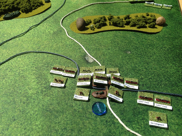 Gaming in the Garden - 2mm Napoleonic Battle Report