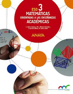 Libro Matemáticas Orientadas a las Enseñanzas Académicas 3º ESO Anaya Proyecto Aprender es Crecer