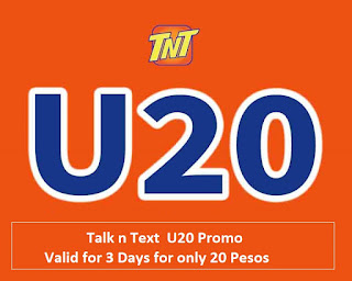 Talk n Text  U20 Promo Valid for 3 Days for only 20 Pesos