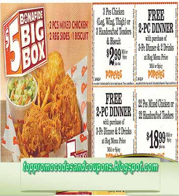 graphic about Popeyes Printable Coupons named popeyes fowl coupon code