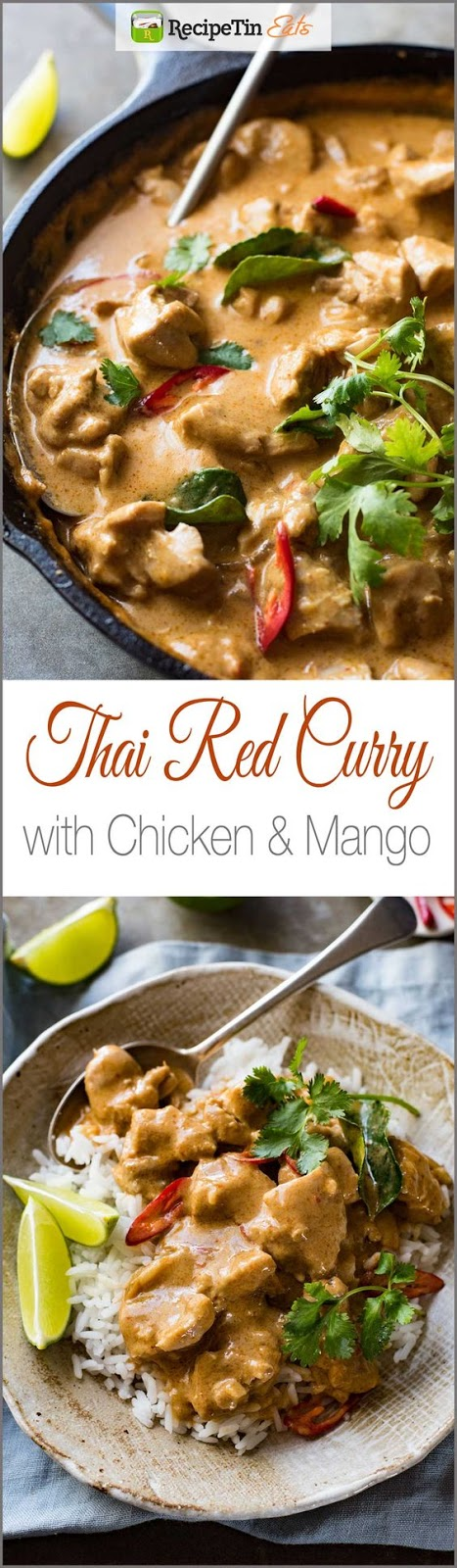 THAI RED CURRY WITH CHICKEN & MANGO