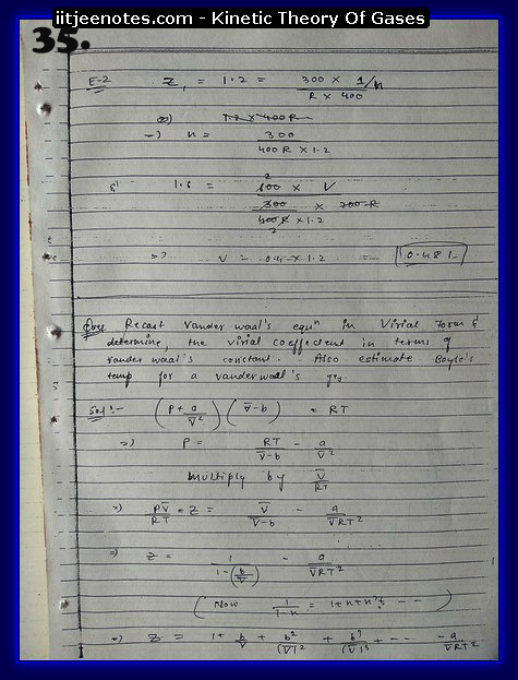 Kinetic Theory Of Gases Notes IITJEE5