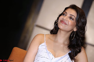 Kajal Aggarwal sizzles in Black Deep Neck Dress ~  Exclusive 009.jpg