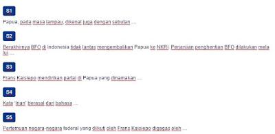 Contoh Soal Pahlawan Nasional dari Papua