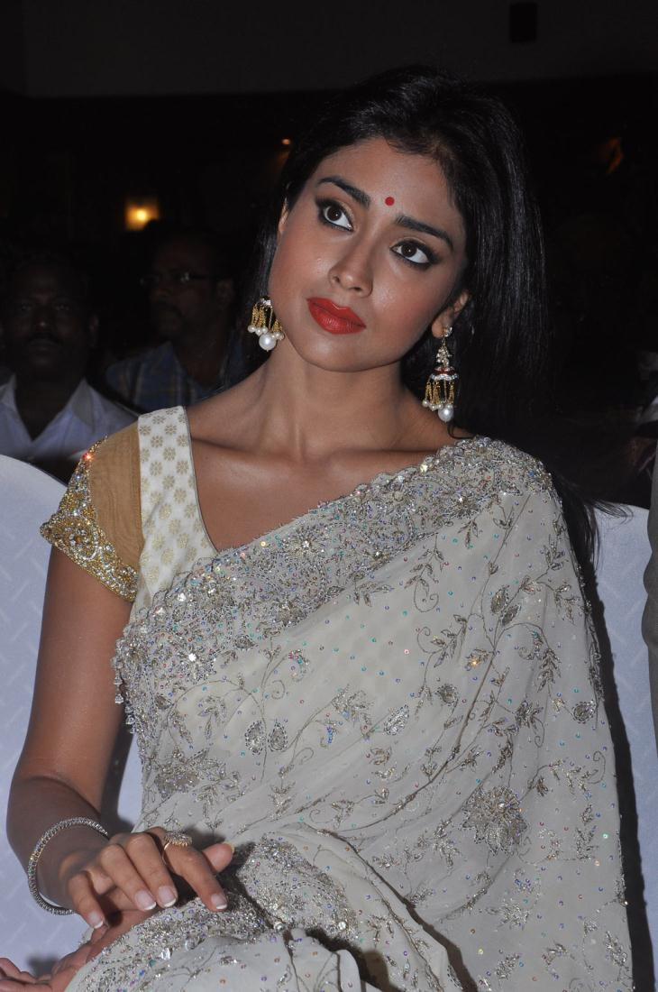 Sweet shriya chandra audio launch in white saree