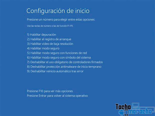 deshabilitar firma de controladores windows 10