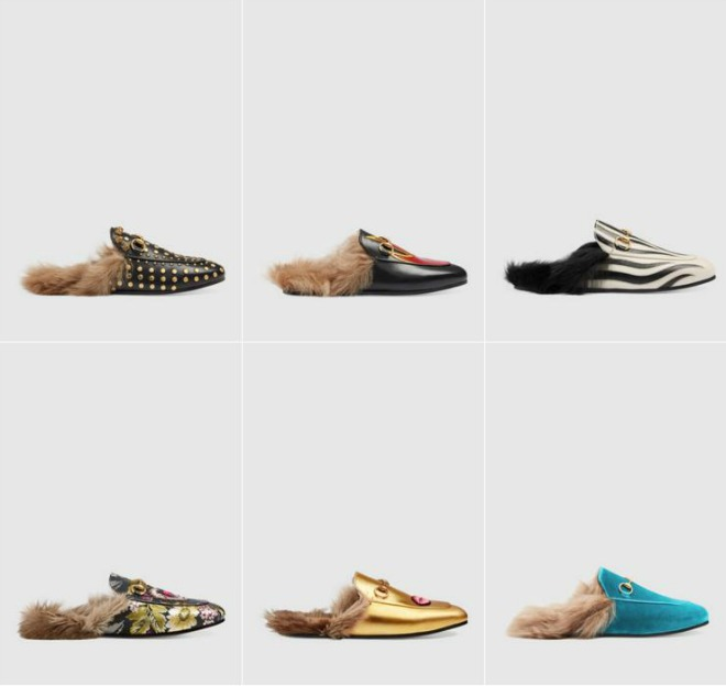 fur loafer gucci dorados