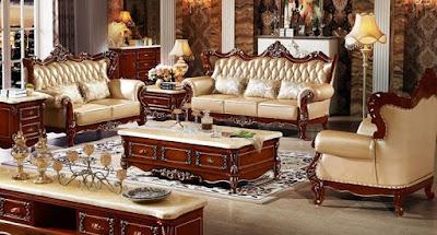 sofa tamu kayu jati paling mewah