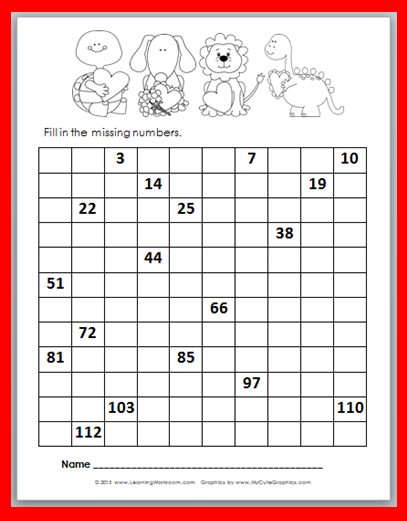 Valentine   day number chart fill in also learning ideas grades  free rh learningideasgradesk spot