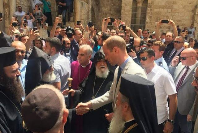 Patriarcado armenio de Jerusalén regala cruz armenia al príncipe Guillermo