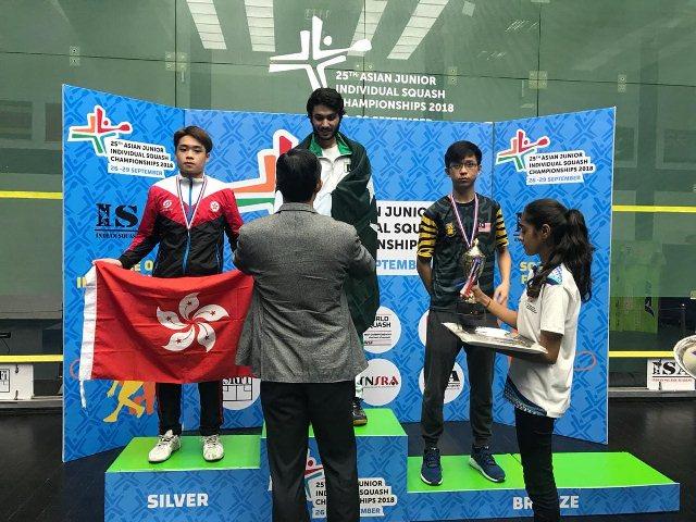 Mohammad Hamza From Pakistan Becomes U-15 Asian Squash Champion