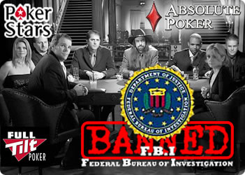 FBI banned Online Poker Website FullTilt Poker PokerStars Absolute Poker