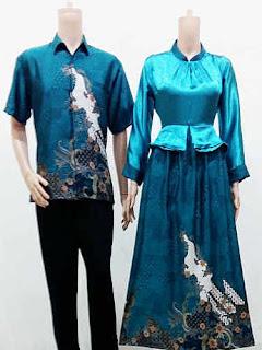 Model Long Dress Batik Kombinasi Kebaya