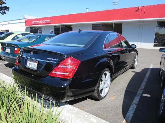 2007 Mercedes S65 AMG after bumper repairs at Almost Everything Auto Body.