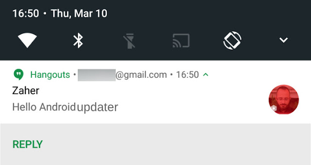 Hangouts Get v8.0 update With Android N Bundled Notifications & Direct Reply Feature : Download APK