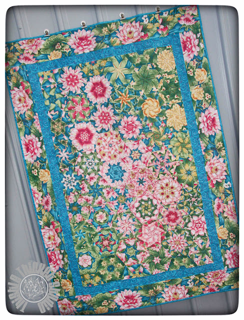 """One Block Wonder Quilt """"Dance of the Water Lilies"""" by Thistle Thicket Studio. www.thistlethicketstudio.com"""
