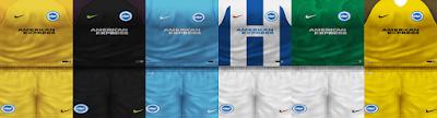 PES 6 Kits Brighton & Hove Albion Season 2018/2019 by VillaPilla