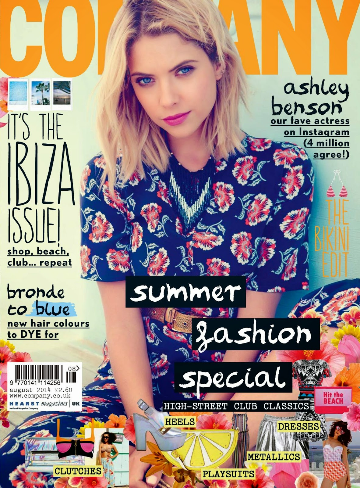 Ashley Benson covers Company Magazine UK August 2014