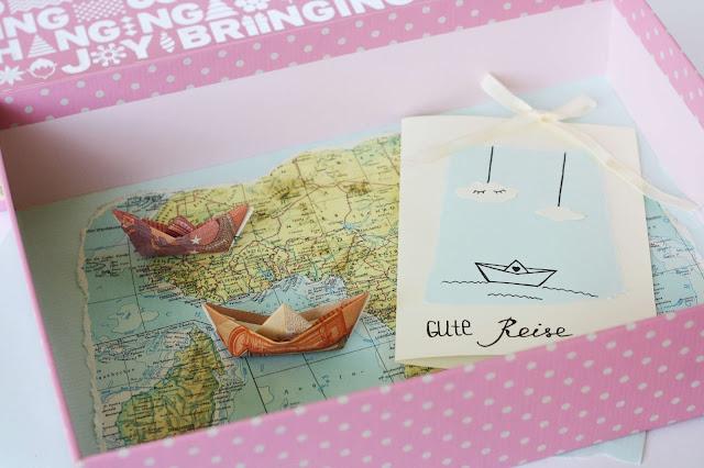 DIY Geldgeschenk - Geldscheine als Origami-Schiffe Some Joys