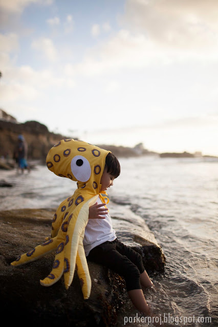 octopus costume, costume, handmade costume, halloween, toddler costume