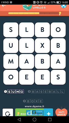 WordBrain 2 soluzioni: Categoria Sport (4X4) Livello 5