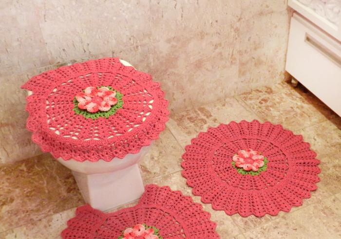 Jogo Para Banheiro De Croche Grafico E Receita Como Fazer