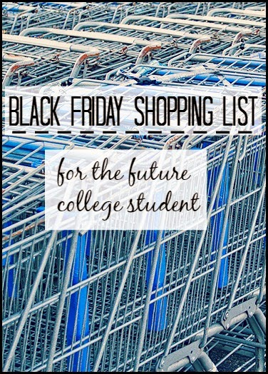 Black Friday Shopping List For The Future College Student
