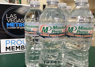 Print, water, bottles, Las Vegas