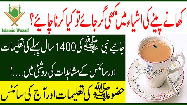 Khane Ya Peene Ki Cheez Mein Gir Jaye To Kya Karna Chahiye/Islamic Wazaif