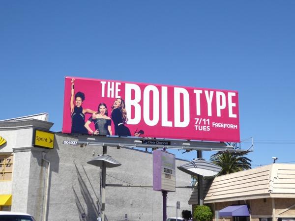 Bold Type Freeform billboard