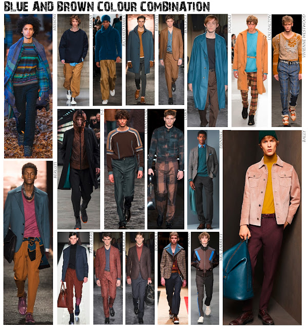 blue and brown, Autumn/Winter 2016, A/W16, AW2016, autumn fashion, menswear collections, menswearAW16, Menswear trends, autumn colour palette, autumnal,