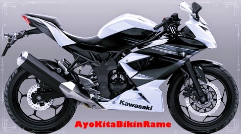 Gambar Foto Motor Kawasaki Ninja 250 RR Mono ABS Warna Putih