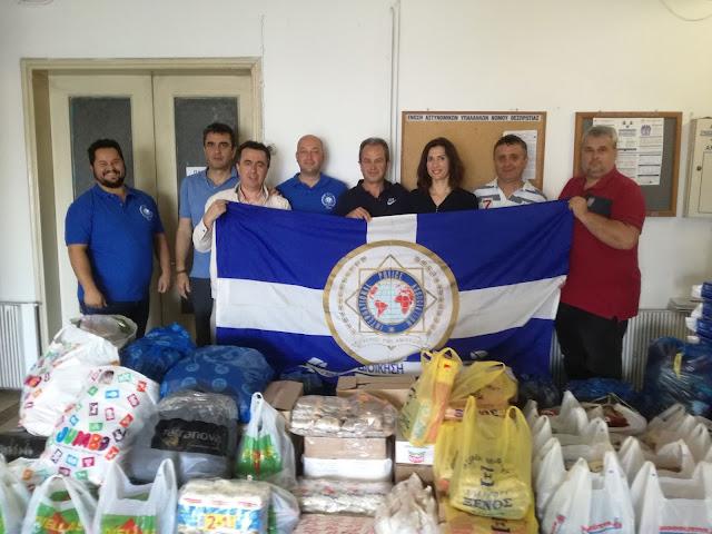 Δωρεά από τη Διεθνή Ένωση Αστυνομικών στο κοινωνικό παντοπωλείο του Δήμου Ηγουμενίτσας