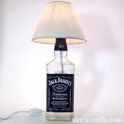 Como hacer una Lampara con una Botella de Licor