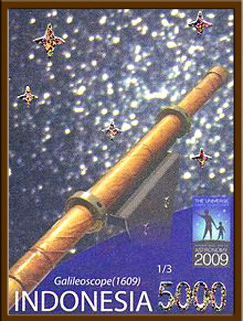 Foto Prangko peringatan Tahun Astronomi Internasional