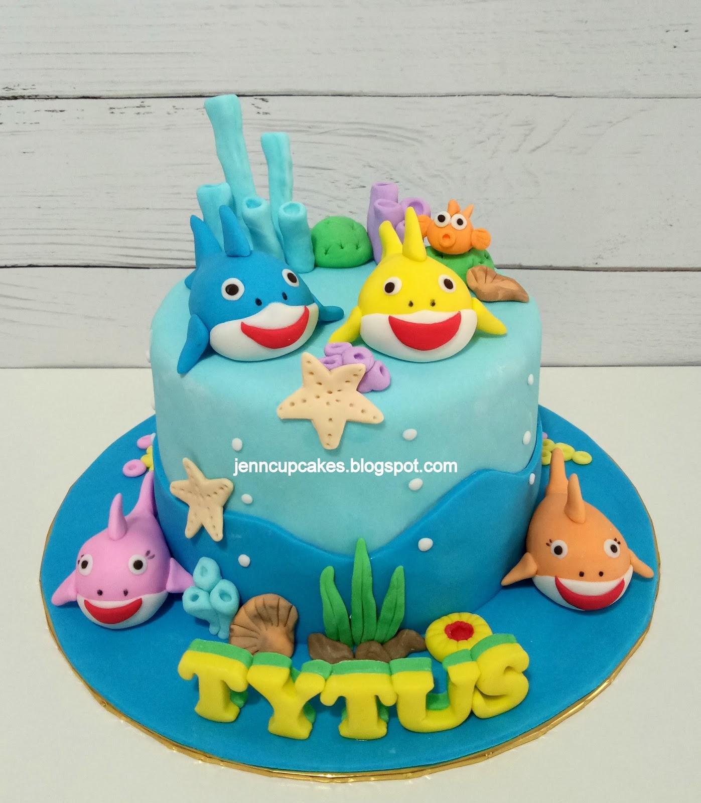 Jenn Cupcakes Muffins Baby Shark Cake Cupcakes