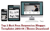 Top 5 Best Free Responsive Blogger Templates 2018-19 | Theme Download
