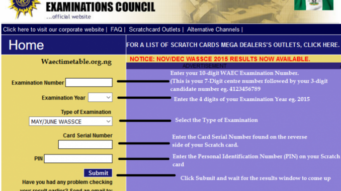 WAEC GCE Result 2017 (Nov/Dec) Is Out — How To Check 2017 WAEC GCE Result Online