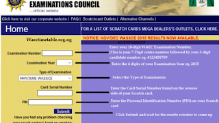 How To Check 2017 WAEC GCE Result Online – waec Scratch Card Result Checker