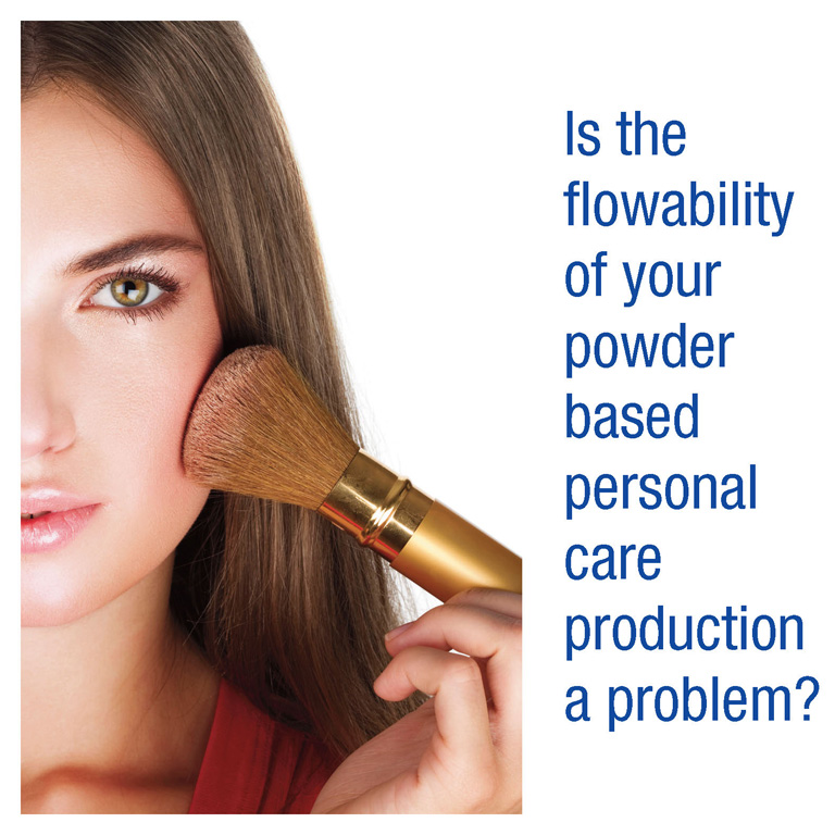 Is the flowability of your powder based personal care production a problem?