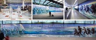 Rogue One: A Starwars Story - Gatwick Airport Terminal Takeover